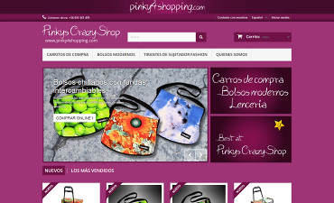 Webdesign-Portfolio - Pinkys Crazy Shop