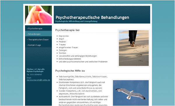 Webdesign Murnau Web Visitenkarte Psychotherapie Marwitz