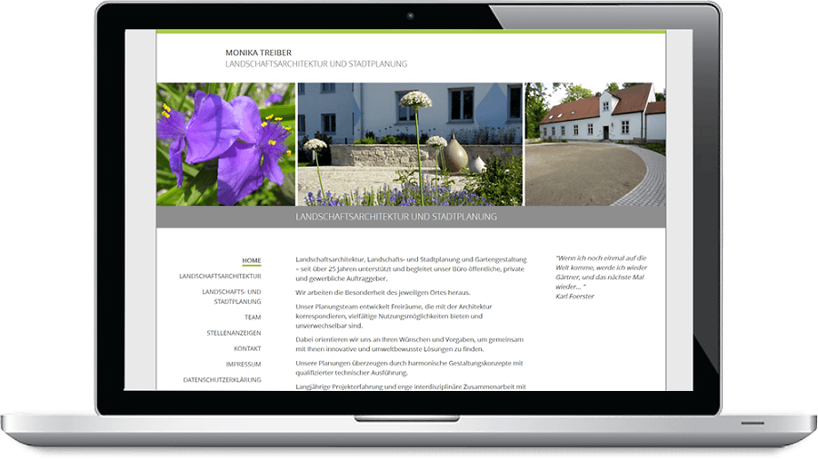 Homepage Landschafts-Architektur